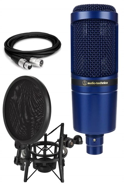 Audio Technica AT2020 TYO Condenser Mikrofon (Filtreli Shock Mount ve Kablo Hediye)