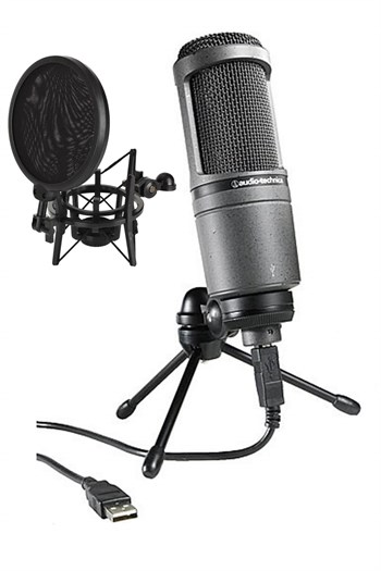 Audio Technica AT2020 USB+ Condenser Mikrofon (Filtreli Shock Hediye)